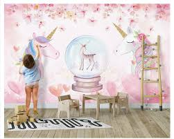 Us 90 40 Offaliexpresscom Buy Beibehang 2019 New Fashion Personality Decorative Painting Stereo Watercolor Unicorn Wall Papers Home Decor