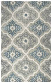 darby home co venedy hand tufted wool blue gray area rug reviews