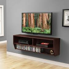 tv stand with shelves. Unique Shelves Wall Mount Media Console Floating Shelf Shelves Entertainment Center TV  Stand And Tv With D