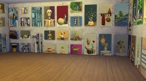 lately i have been experimenting with the paint from reference interaction available on the art easel with it your sim can create custom art to match  on urban wall art sims 4 with simply ruthless create your own custom paintings in the sims 4