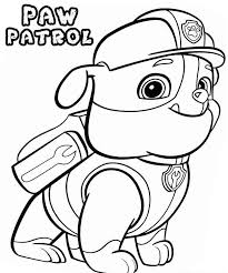 Funny Rubble Paw Patrol Coloring Pages 811 X 970 702 Kb