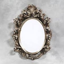 large silver oval carved rococo baroque