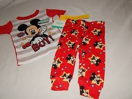 New Mickey Mouse Figure Poster Art Picture Disney Baby Pajamas Size 9 24 Months Ebay