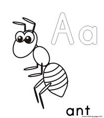 Small Picture a for ant alphabet s printable17f25 Coloring pages Printable