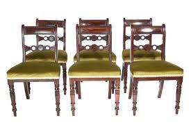 fine set of six regency gany dining chairs