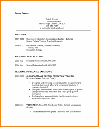 Education For Resume Valid Resume Sample Special Education Teacher