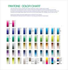5 Color Chart Templates Pdf Free Premium Templates