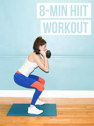 8 min hiit workout all you need is a set of weights for this