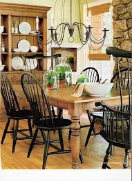 antique pine dining room chairs. ethan allen wood and black painted windsor chairs \u0026 chandelier this table leg looks exactly like our antique (long) table. pine dining room 0