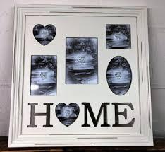 home shabby chic large 5 multi photo frame wall collage rh mezzalunagifts com large shabby chic