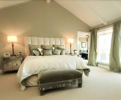 Sage Green Accent Wall Behind The All White Bed With Green - Green bedroom