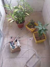 picture of arduino automatic watering system for plants sprinkler