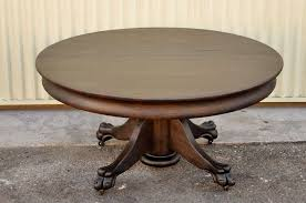 19th century black painted pedestal claw foot coffee table