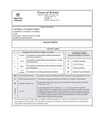 Student Report Card Template 30 Real Fake Report Card Templates Homeschool High