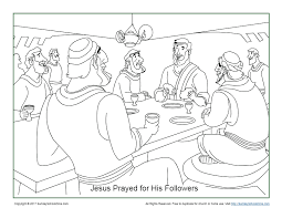 The mysteries of the rosary coloring pages can be found here. Jesus Prayed For His Disciples Coloring Page On Sunday School Zone