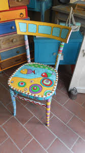 colorful furniture. Whimsical Painted Furniture, Chairs, Colorful Funky Painting Furniture Redo, Ideas, Chair Makeover,