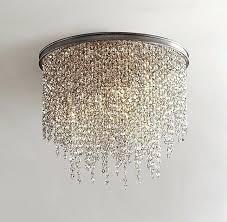 flush mount crystal chandelier elegant small the lighting 4 light inside 26