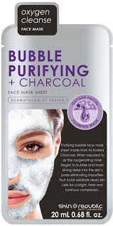 bubble purifying charcoal face mask sheet reviews