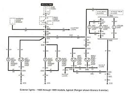 Diagram_Exteriorlights_1983to1989 ford ranger wiring by color 1983 1991 on ford ranger tail light wiring harness