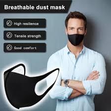 <b>5pcs</b>/<b>10pcs</b>/<b>15pcs</b>/<b>20pcs</b> Washable Anti-Dust Masks Black Cycling ...