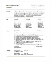 engineering resume templates. 8 Engineering CV Templates Sample Templates