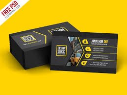 Free Psd Business Card Templates 45 Best Business Card Design Psd Templates Decolore Net