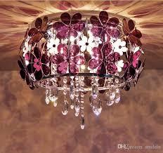 modern led white flower crystal flushmount ceiling light lamp lighting chandelie foyer pendant lighting in pendant lights from smilelu