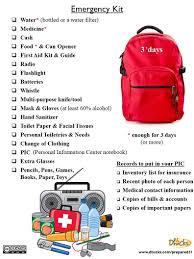 Emergency List Emergency Kit List Custom Branded