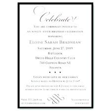Formal Birthday Invitation On Email Template Wording In