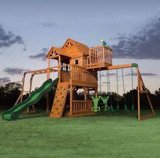 kids tree houses with slides. Kids Garden Playhouse Outdoor Children Slide Large Swing Set Wooden Tree House Houses With Slides R