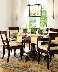 growing round dining room table from pottery barn 5 set