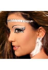 headband halo rhinestone angel costume makeup xotic eyes