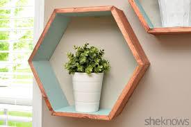 geometric wall shelves