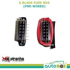 piranha 6 blade fuse box (pre wired) lateral connector caravan camper fuse box location piranha 6 blade fuse box (pre wired) lateral connector caravan camper 4wd wire