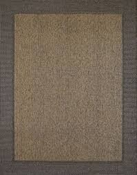 megalo collection border outdoor chestnut black rug
