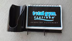Chuck Norris Total Gym Platinum Exercise Flip Chart