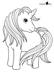 Small Picture Lovely Baby Unicorn With Long Hair And Tail Coloring Page