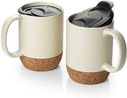 We have all the latest coffee mug product reviews, customer ratings, and so much more. Amazon Com Dowan Coffee Mugs Set Of 2 15 Oz Ceramic Mug With Insulated Cork Bottom And Splash Proof Lid Large Coffee Mug With Handle For Men Women Beige Kitchen Dining