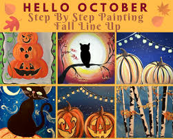 acrylic step by step painting tutorials by tracie kiernan learn how to paint these fall
