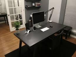 black office table. Modern Desk. Black Office Table