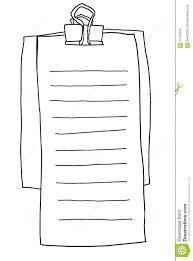 Memo Note Paper Line Illustration Stock Illustration Illustration
