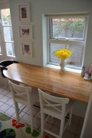 Diy Breakfast Bar Bar Table Small Space For The Home Pinterest Small Spaces