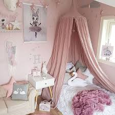 White Grey Pink Beige Boys Girls Kids Princess Canopy Bed Valance Kids Room  Decoration Baby Bed