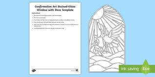 Glass Template Confirmation Art Stained Glass Window With Dove Display Cut