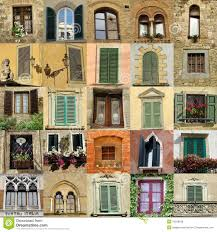 Antique Windows Collage With Antique Windows In Italy Royalty Free Stock Photos