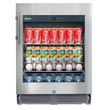 Glass Refrigerator Liebherr Glass Door Beverage Refrigerator Andi Co
