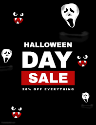 halloween sale flyer halloween sale flyer template postermywall