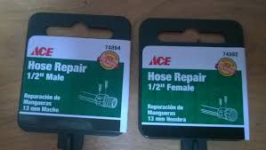 Contemporary Garden Hose Repair I Went To Ace Hardware And Picked In Ideas