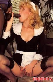 Retro maid threesome blonde