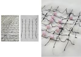 Barbed Wire Embroidery Design Textile Embroidery Design Studio Anneleen Bertels